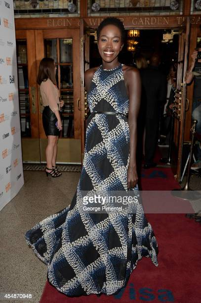 Actress Kuoth Wiel attends The Good Lie premiere during the 2014 Toronto International Film Festival at The Elgin on September 7 2014 in Toronto...