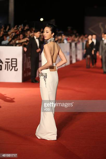 Actress Kwai LunMei arrives on the red carpet of the 50th Golden Horse Awards at Sun Yatsen Memorial Hall on November 23 2013 in Taipei Taiwan