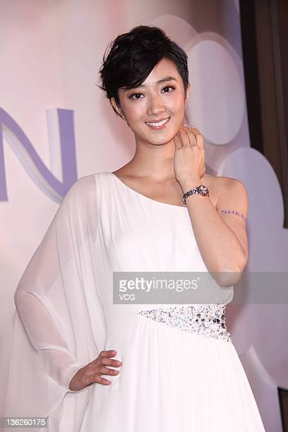 Actress Kwai LunMei attends Casio promotional event at Le Meridien hotel on December 29 2011 in Taipei Taiwan
