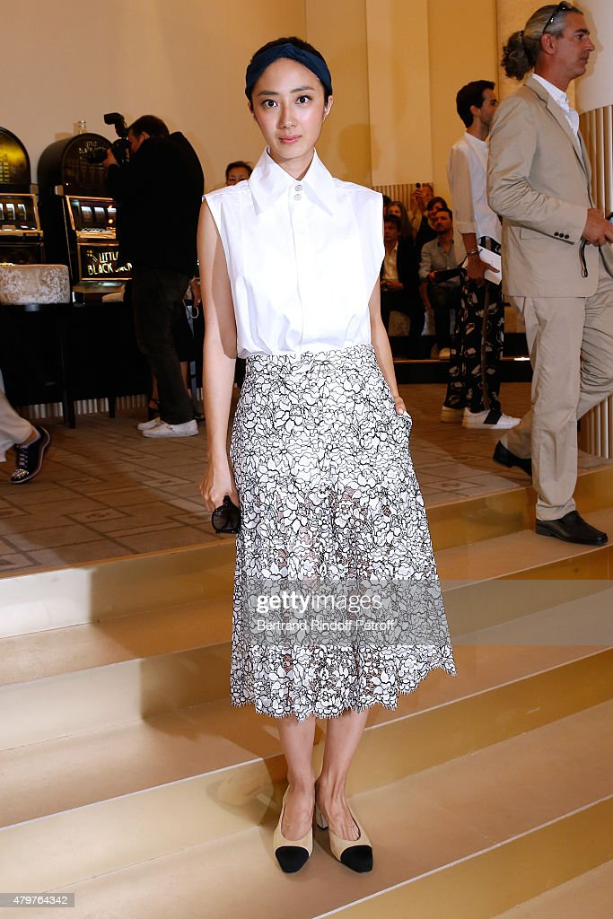 Chanel : Front Row - Paris Fashion Week - Haute Couture Fall/Winter 2015/2016