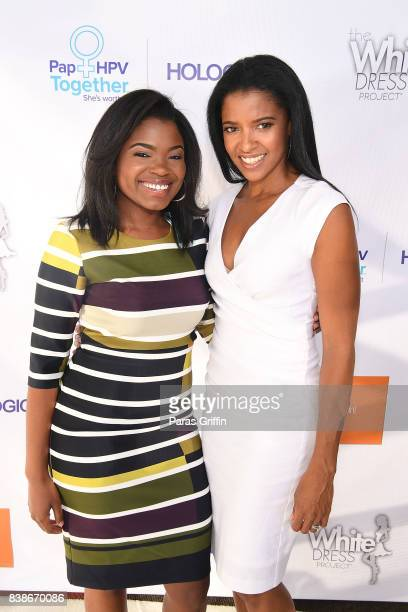 Actress Kyanna Simone Simpson and Renee Elise Goldsberry at 'The Immortal Life Of Henrietta Lacks' Viewing Panel Discussion with Renee Elise...