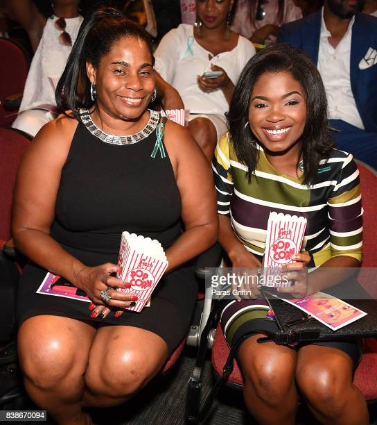 Actress Kyanna Simone Simpson at 'The Immortal Life Of Henrietta Lacks' Viewing Panel Discussion with Renee Elise Goldsberry Dr Jessica Shepherd Dr...