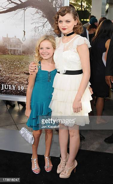Actress Kyla Deaver and actress Joey King arrive at the Los Angeles Premiere 'The Conjuring' at ArcLight Cinemas Cinerama Dome on July 15 2013 in...