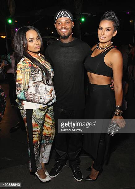 Actress Kyla Pratt Compton and TV personality Laura Govan attend OK Magazine's So Sexy LA Event at LURE on May 21 2014 in Los Angeles California