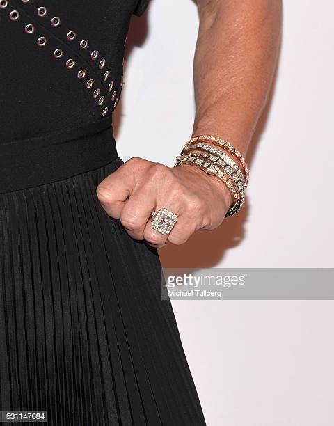 Actress Kyle Richards ring detail attends AltaMed Health Services' Power Up We Are The Future Gala at the Beverly Wilshire Four Seasons Hotel on May...