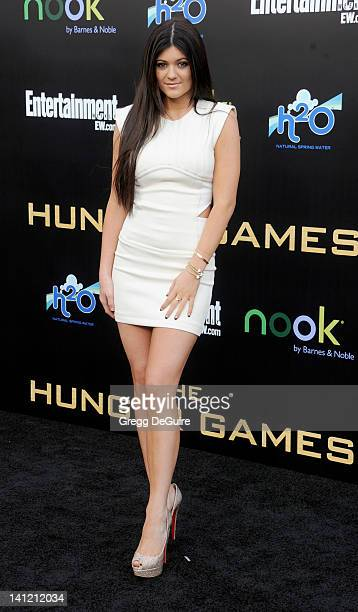 Actress Kylie Jenner arrives at The Hunger Games Los Angeles Premiere at Nokia Theatre LA Live on March 12 2012 in Los Angeles California