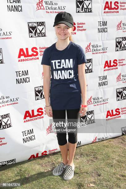 Actress Kylie Rogers attends Nanci Ryder's Team Nanci at the 15th Annual LA County Walk to Defeat ALS at the Exposition Park on October 15 2017 in...