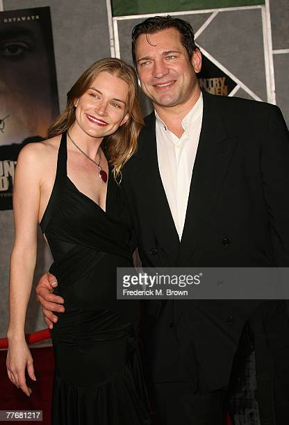 Actress Kym Jackson and actor Dimitri Diatchenko arrive at the premiere of Miramax Films' No Country For Old Men held at the El Capitan Theater on...