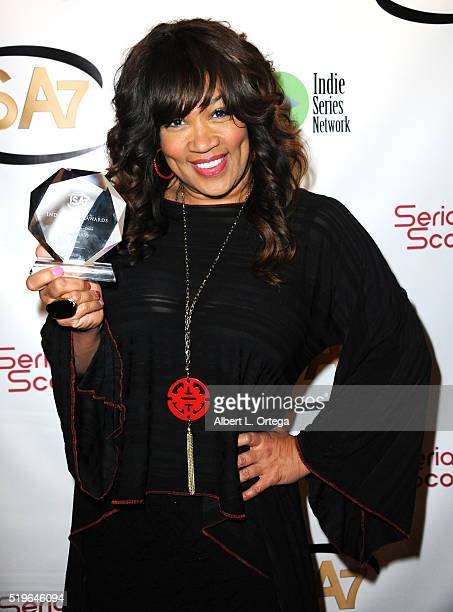 Actress Kym Whitley wiiner Best Guest Actress in a Drama from The Bay at the 7th Annual Indie Series Awards held at El Portal Theatre on April 6 2016...