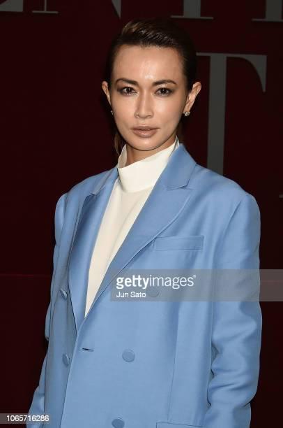 Actress Kyoko Hasegawa attends the photocall for Valentino TKY 2019 Pre-Fall Collection at Terada Warehouse on November 27, 2018 in Tokyo, Japan.