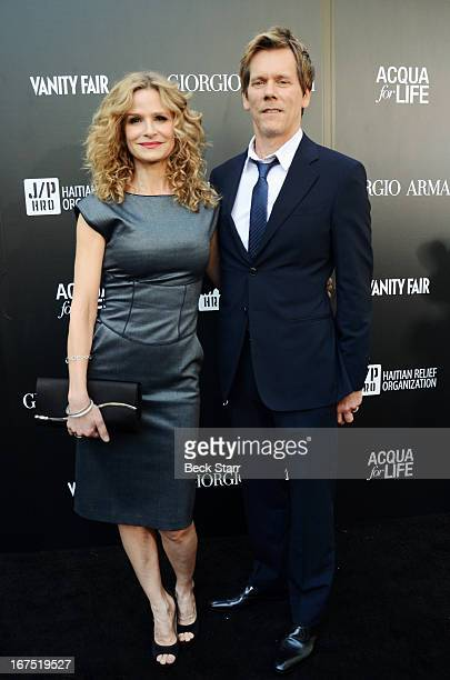 Actress Kyra Sedgwick and actor Kevin Bacon arrive at the Giorgio Armani party to celebrate Paris Photo Los Angeles Vernissage opening night at...
