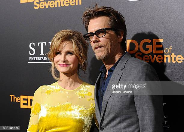 Actress Kyra Sedgwick and actor Kevin Bacon attend a screening of The Edge of Seventeen at Regal LA Live Stadium 14 on November 9 2016 in Los Angeles...
