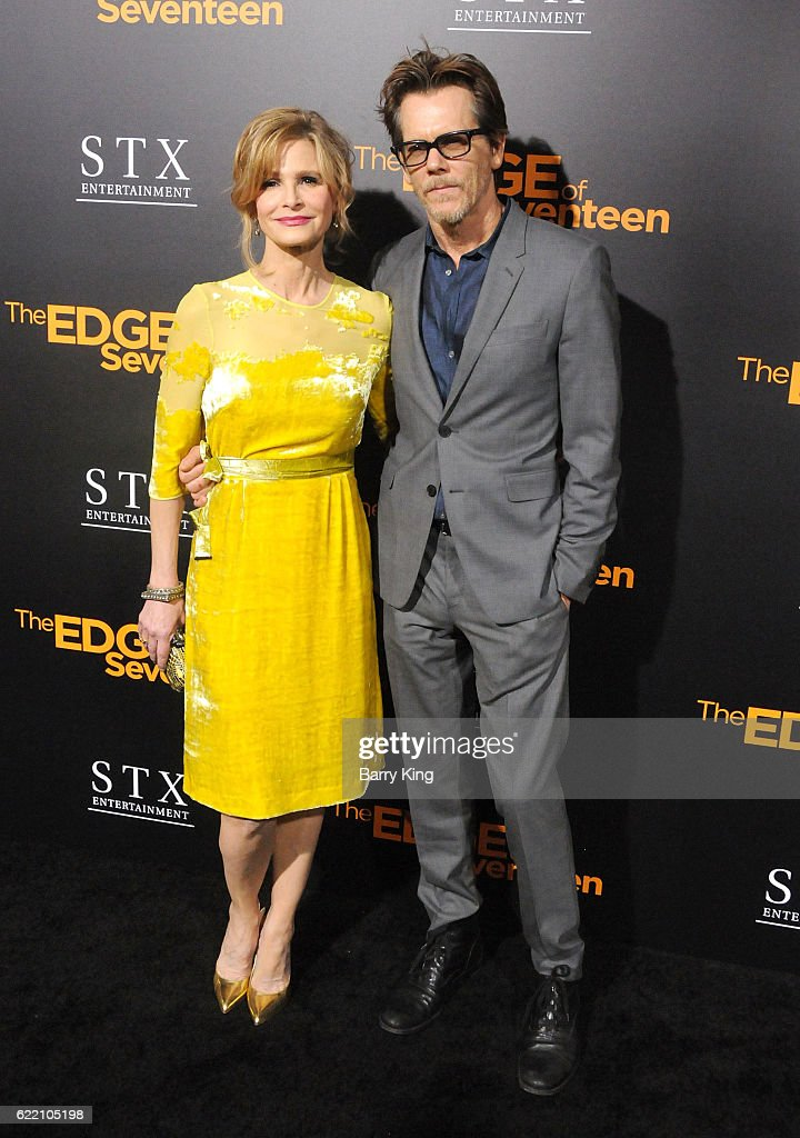 Actress Kyra Sedgwick and actor Kevin Bacon attend screening of STX Entertainment's 'The Edge Of Seventeen' at Regal LA Live Stadium 14 on November 9, 2016 in Los Angeles, California.