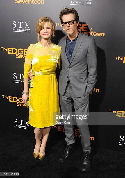Actress Kyra Sedgwick and actor Kevin Bacon attend screening of STX Entertainment's 'The Edge Of Seventeen' at Regal LA Live Stadium 14 on November 9...