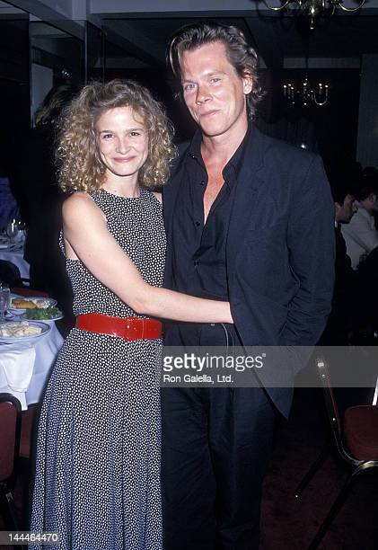 Actress Kyra Sedgwick and actor Kevin Bacon attend the 'Long Day's Journey Into Night' Opening Night Party on June 14 1988 at Sardi's Restaurant in...
