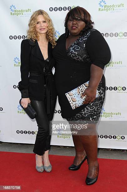 Actress Kyra Sedgwick and actress Gabourey Sidibe attend the Woodcraft Rangers 90th Anniversary Gala hosted by Kyra Sedgwick at LA Plaza de Cultura y...