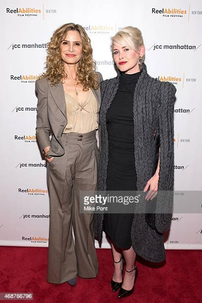 Actress Kyra Sedgwick and Director Gren Wells attend the 'The Road Within' New York Premiere at The JCC on April 6 2015 in New York City