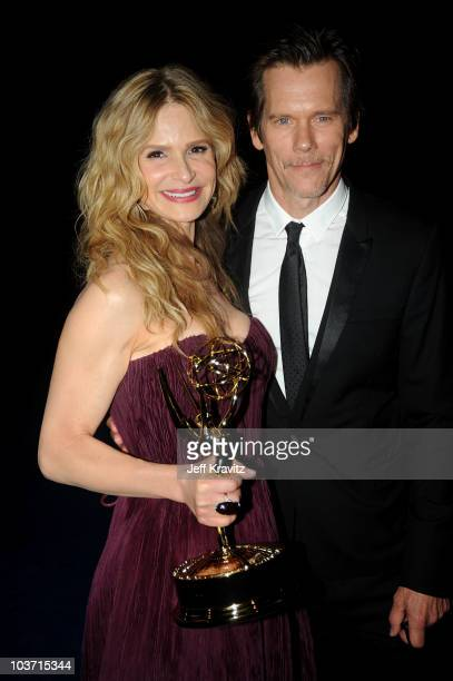 Actress Kyra Sedgwick and husband actor Kevin Bacon attend the 62nd Annual Primetime Emmy Awards Governors Ball held at the Los Angeles Convention...