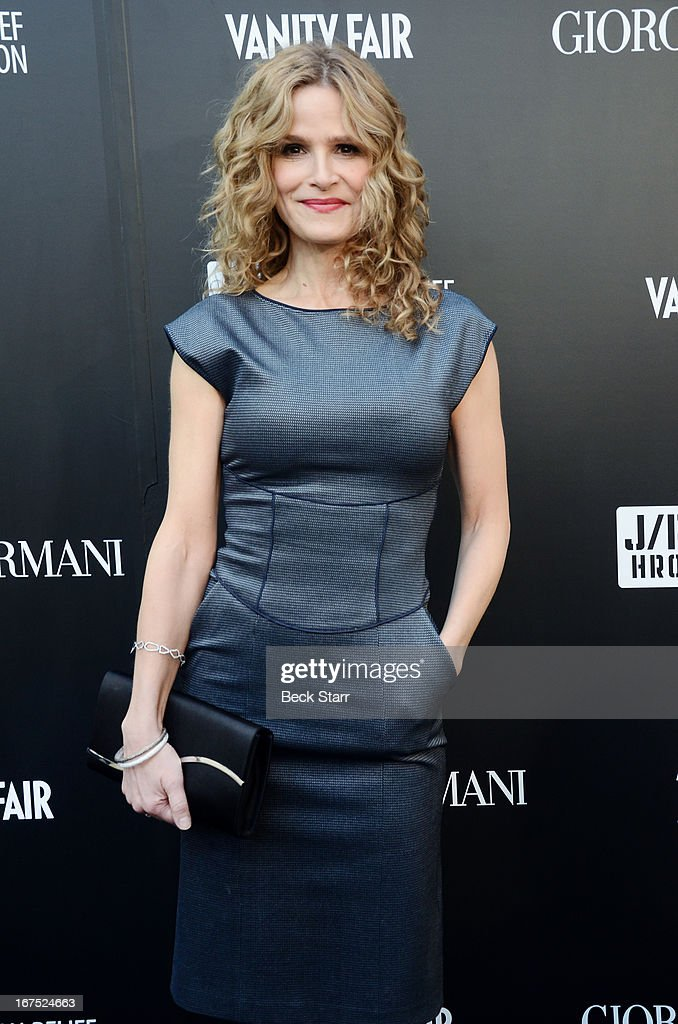 Actress Kyra Sedgwick arrives at the Giorgio Armani party to celebrate Paris Photo Los Angeles Vernissage opening night at Paramount Studios on April 25, 2013 in Hollywood, California.