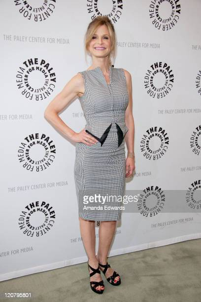 Actress Kyra Sedgwick arrives at The Paley Center for Media Presents An Evening With The Closer at The Paley Center for Media on August 10 2011 in...