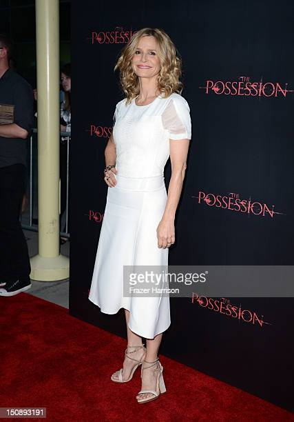 Actress Kyra Sedgwick arrives at the premiere of Lionsgate Films' The Possession at ArcLight Cinemas on August 28 2012 in Hollywood California