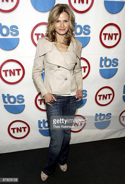 Actress Kyra Sedgwick attends 2006/2007 TNT And TBS UpFront Reception at Nick Stef's Steakhouse on April 11 2006 in New York City