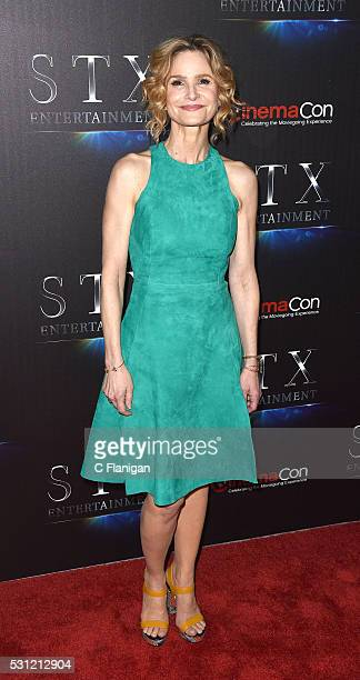 Actress Kyra Sedgwick attends the STX Entertainment's The State of the Industry Past Present and Future at The Colosseum at Caesars Palace during...