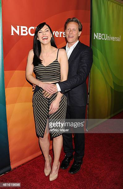 Actress Kyra Zagorsky and actor Steven Weber attend the NBCUniversal 2015 Press Tour at the Langham Huntington Hotel on January 15 2015 in Pasadena...