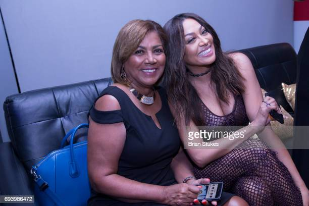 Actress La La Anthony and her mother Carmen Surillo attend the STARZ 'Power' Season Four Premiere at The Newseum on June 8 2017 in Washington DC
