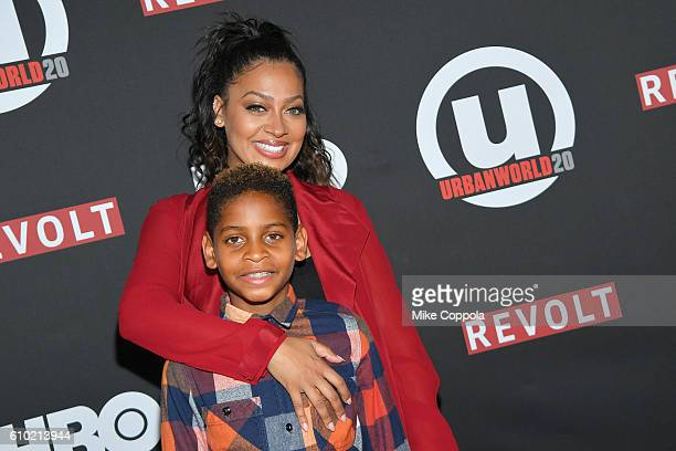 Actress La La Anthony and son Kiyan Carmelo Anthony attend the 20th Annual Urbanworld Film Festival 'The New Edition Story' Screening at AMC Empire...