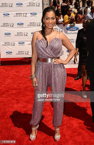 Actress La La Anthony arrives at the 2012 BET Awards at The Shrine Auditorium on July 1 2012 in Los Angeles California