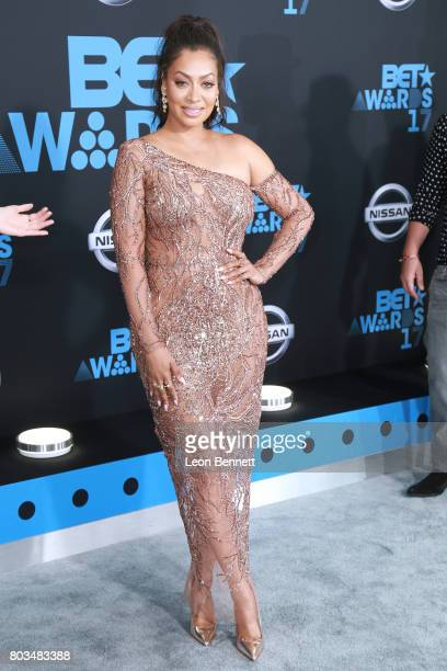 Actress La La Anthony arrives at the 2017 BET Awards at Microsoft Theater on June 25 2017 in Los Angeles California