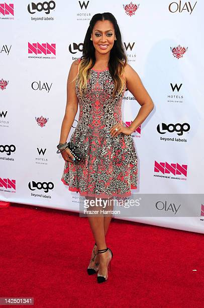 Actress La La Anthony attends Logo's NewNowNext Awards 2012 at Avalon on April 5 2012 in Hollywood California