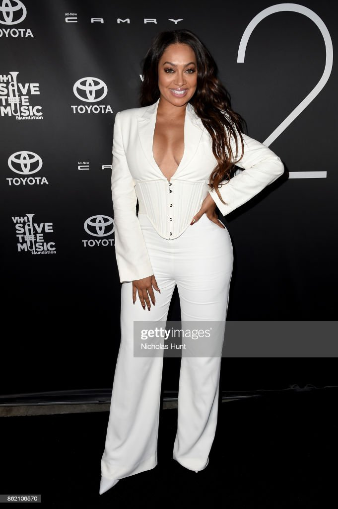 TV personality La La Anthony attends VH1 Save The Music 20th Anniversary Gala at SIR Stage37 on October 16, 2017 in New York City.