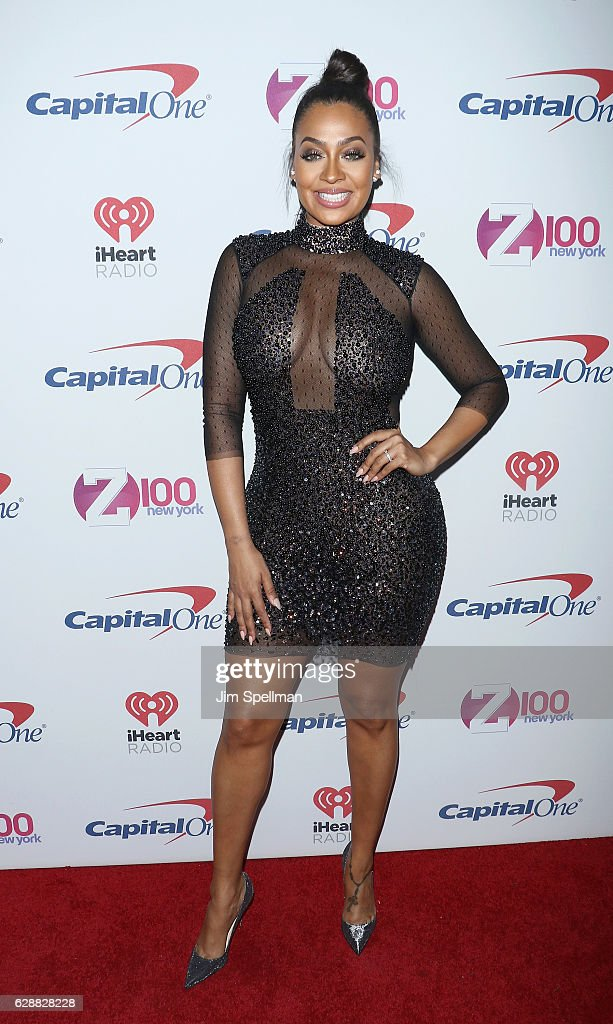 Actress La La Anthony attends Z100's Jingle Ball 2016 at Madison Square Garden on December 9, 2016 in New York City.