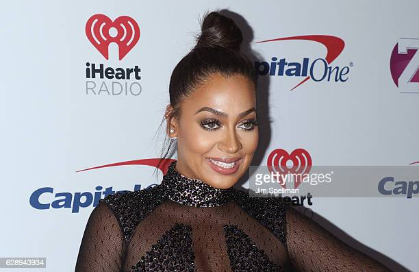 Actress La La Anthony attends Z100's Jingle Ball 2016 at Madison Square Garden on December 9 2016 in New York City