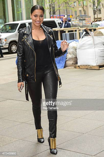 Actress La La Anthony enters the Sirius XM Studios on May 6 2015 in New York City