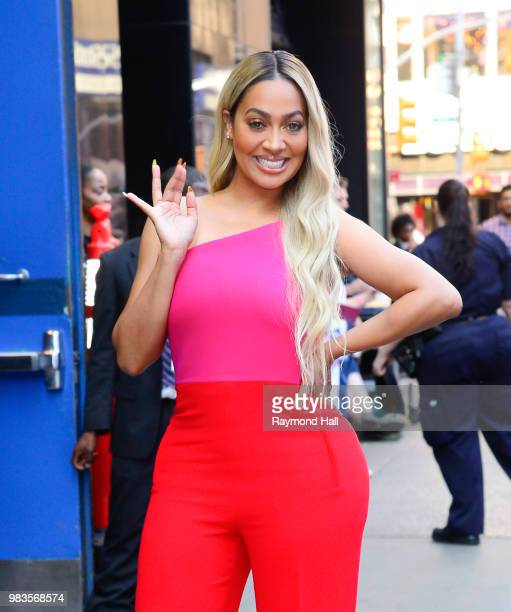Actress La La' Anthony is seen outside Good Morning America on June 25 2018 in New York City