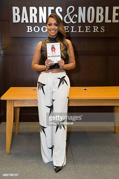 """Actress La La Anthony signs copies of her new book """"The Love Playbook"""" at Barnes & Noble bookstore at The Grove on February 3, 2014 in Los Angeles,..."""