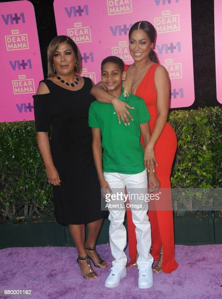 Actress La La Anthony son Kiyan Carmelo Anthony and mother arrive for VH1's 2nd Annual Dear Mama An Event To Honor Moms held at The Huntington...
