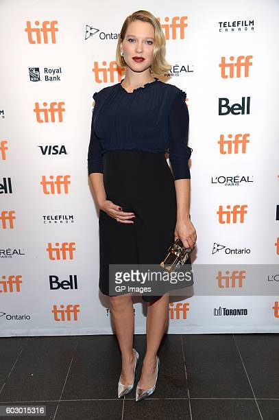 Actress Léa Seydoux attends the 'It's Only The End Of The World' premiere during the 2016 Toronto International Film Festival at TIFF Bell Lightbox...