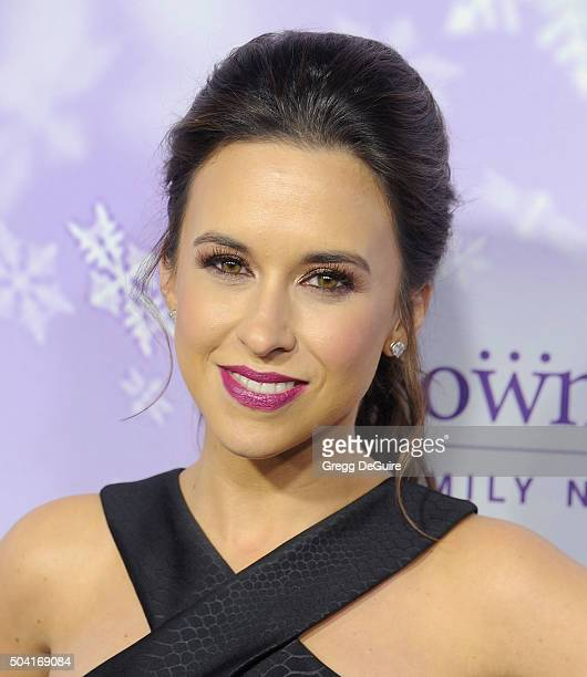 Actress Lacey Chabert arrives at the Hallmark Channel and Hallmark Movies and Mysteries Winter 2016 TCA Press Tour at Tournament House on January 8...
