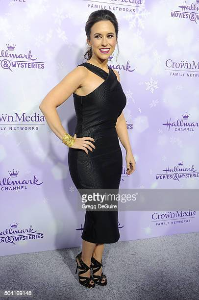 Actress Lacey Chabert arrives at the Hallmark Channel and Hallmark Movies and Mysteries Winter 2016 TCA Press Tour at Tournament House on January 8,...