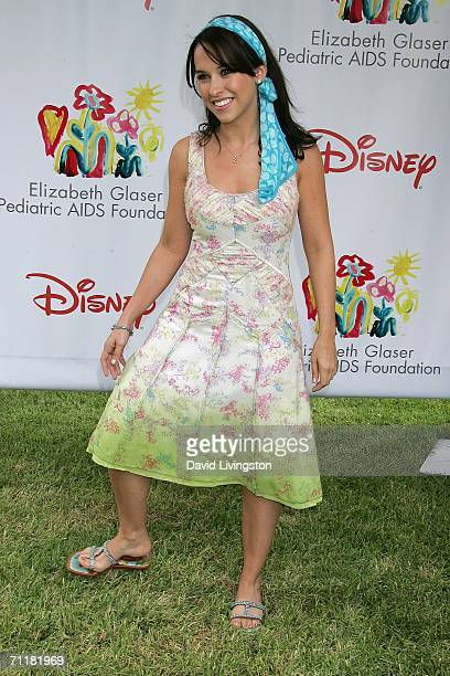Actress Lacey Chabert attends A Time for Heroes Celebrity Carnival sponsored by Disney to benefit the Elizabeth Glaser Pediatric AIDS Foundation on...