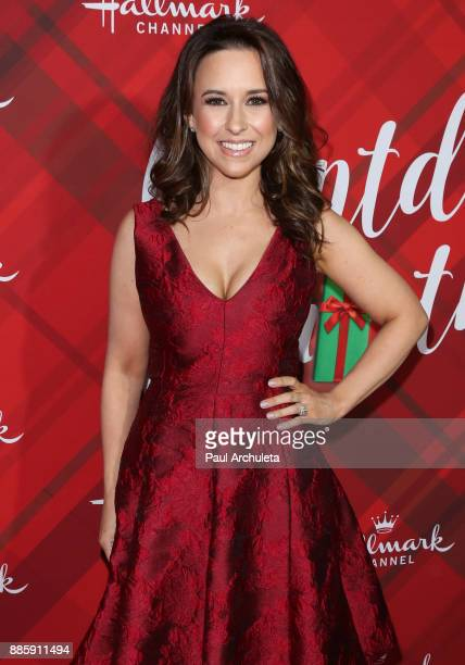 Actress Lacey Chabert attends the Hallmark Channel's Countdown To Christmas Celebration and VIP screening of Christmas At Holly Lodge at The Grove on...
