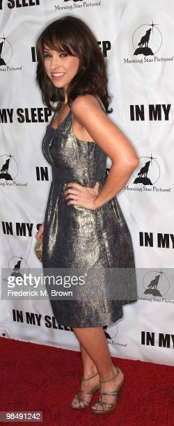 Actress Lacey Chabert attends the In My Sleep film premiere at the Arclight Hollywood on April 15 2010 in Los Angeles California