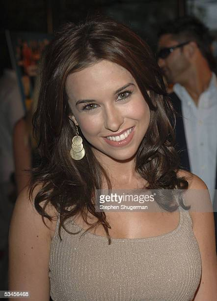 Actress Lacey Chabert atttends the world premiere of Dirty Deeds at the Directors Guild of America on August 23 2005 in Los Angeles California