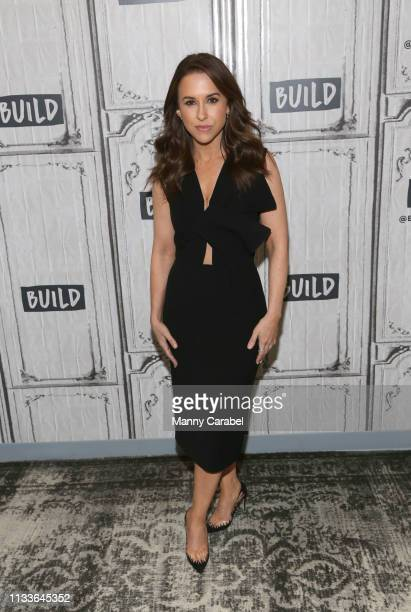 Actress Lacey Chabert visits Build Series to discuss her role in the movie 'The Crossword Mysteries: A Puzzle to Die For' at Build Studio on March...