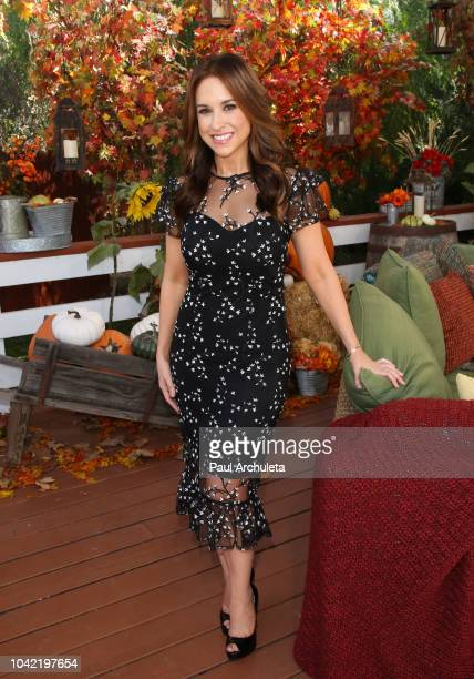 Actress Lacey Chabert visits Hallmark's 'Home Family' at Universal Studios Hollywood on September 27 2018 in Universal City California