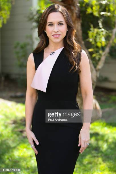 Actress Lacey Chabert visits Hallmark's Home Family at Universal Studios Hollywood on March 07 2019 in Universal City California